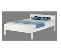 White Amber Wooden Bed